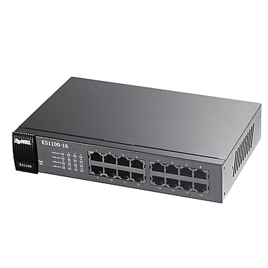Zyxel Unmanaged PoE Fast Ethernet Switch, 16-Ports (ES1100-16)