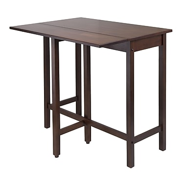Winsome Lynnwood High Drop Leaf Table, Antique Walnut