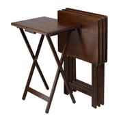 Winsome Single – Ensemble de tables de télévision Single de 4 pièces, rectangulaire, fini noyer antique