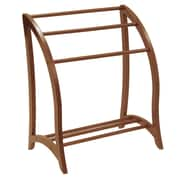 Winsome Quilt Rack, With 3 Rungs, Antique Walnut