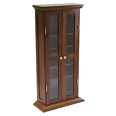 Winsome – Armoire DVD/CD, noyer antique