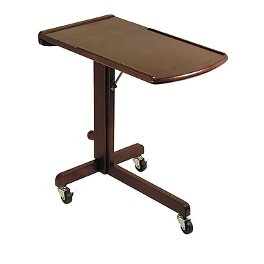 Winsome Lap Top Cart Adjustable, Antique Walnut