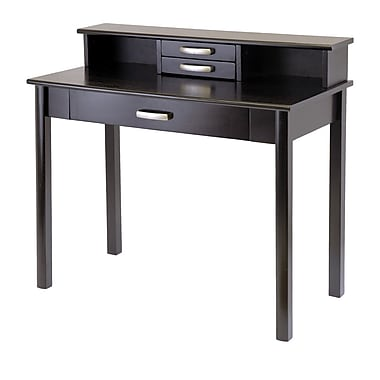 Winsome Liso Home Office Set, Computer Desk with Hutch, Espresso