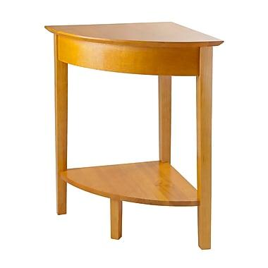 Winsome Studio Corner Table, Honey