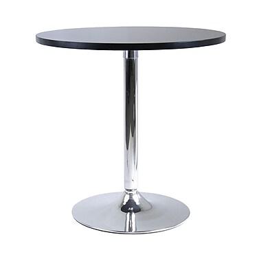Winsome – Table à manger ronde de 29 po de la collection Spectrum, fini noir