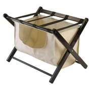 Winsome Dora Luggage Rack with removable fabric basket, Espresso