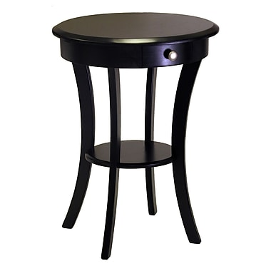 Winsome Sasha Round Accent Table, Black