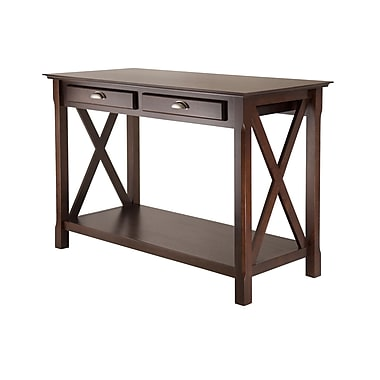 Winsome Xola Console Table With 2 Drawers, Cappuccino