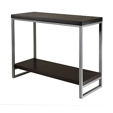 Winsome Jared Console Table, Enamel Steel Tube, Espresso