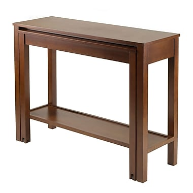 Winsome Brandon Expandable Console Table, Antique Walnut