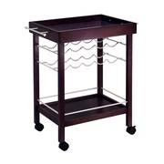 Winsome Bar Cart, Mirror Top, wine rack, Espresso