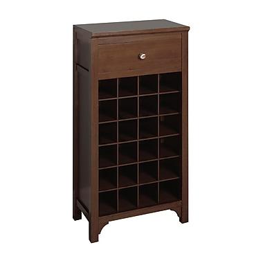 Winsome Wine Modular Cabinet, Antique Walnut