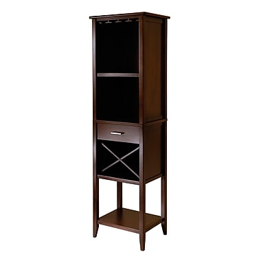 Winsome Palani Wine Tower, Antique Walnut