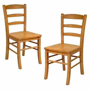 Winsome - Chaises à bandeaux, chêne clair, paq./2