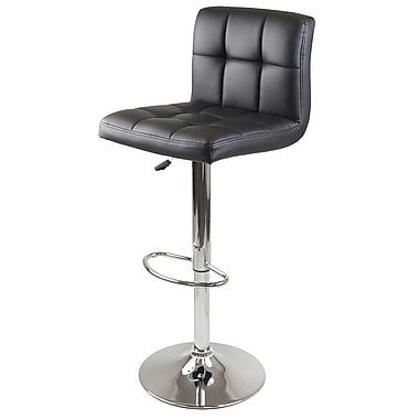 Winsome Stockholm Air Lift Swivel Stool, Black