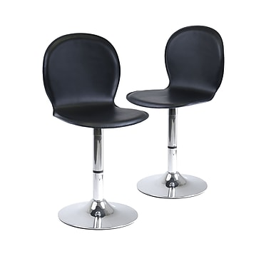 Winsome Spectrum Swivel Shell Chairs, Black, 2/Pack