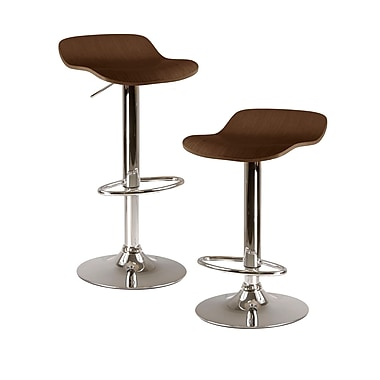 Winsome Kallie Air Lift Adjustable Stools, 2/Pack
