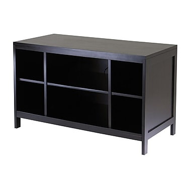 Winsome Hailey TV Stand, Modular, Open Shelf, Large, Espresso