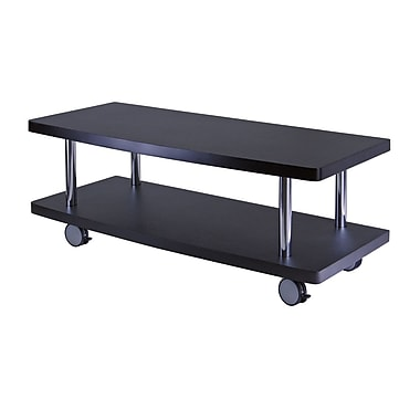 Winsome Evans TV Stand Curved Shelf, Black