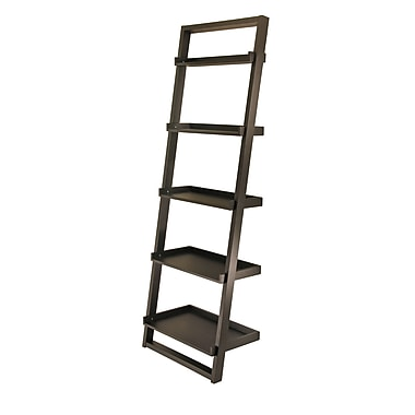 Winsome Bailey Leaning Shelf 5-Tier, Black