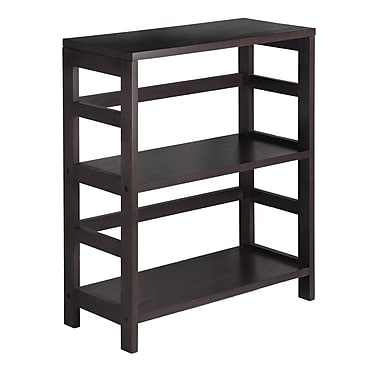 Winsome Leo Shelf / Storage, Book, 2-Tier Wide, Espresso