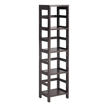 Winsome Leo Shelf with 4-Tier, Espresso