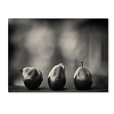 Trademark Fine Art 'Three Red Pears' 30