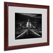 "Trademark Fine Art '06 Giugno' 16"" x 20"" Wood Frame Art"
