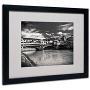 "Trademark Fine Art 'Letters From Florence' 16"" x 20"" Black Frame Art"