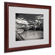 """Trademark Fine Art 'Letters From Florence' 16"""" x 20"""" Wood Frame Art"""