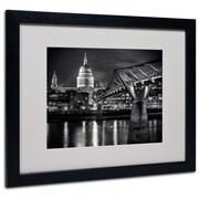 """Trademark Fine Art 'Letters From London' 16"""" x 20"""" Black Frame Art"""