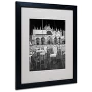 "Trademark Fine Art 'Chairs In San Marco' 16"" x 20"" Black Frame Art"