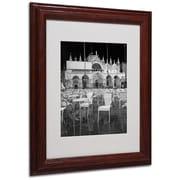 "Trademark Fine Art 'Chairs In San Marco' 11"" x 14"" Wood Frame Art"
