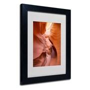 "Trademark Fine Art 'Spiral I' 11"" x 14"" Black Frame Art"