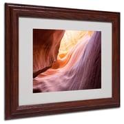 "Trademark Fine Art 'The Lower Wave' 11"" x 14"" Wood Frame Art"