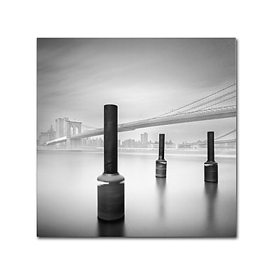 Trademark Fine Art 'Three Posters en Brooklyn Bridge' 18in. x 18in. Canvas Art