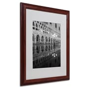"Trademark Fine Art 'Venetia Reflection' 16"" x 20"" Wood Frame Art"