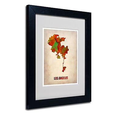 Trademark Fine Art 'Los Angeles Watercolor Map'