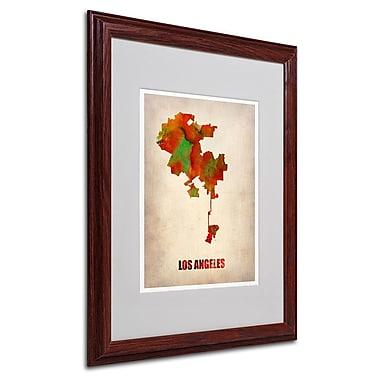 Trademark Fine Art 'Los Angeles Watercolor Map' 16
