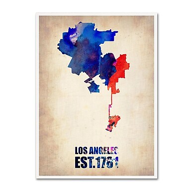 Trademark Fine Art 'Los Angeles Watercolor Map 2' 24