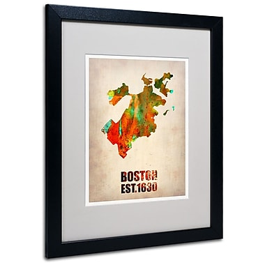 Trademark Fine Art 'Boston Watercolor Map' 16