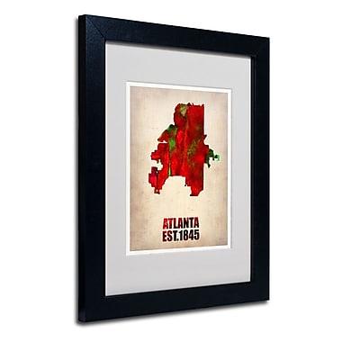 Trademark Fine Art 'Atlanta Watercolor Map' 11