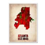 "Trademark Fine Art 'Atlanta Watercolor Map' 18"" x 24"" Canvas Art"
