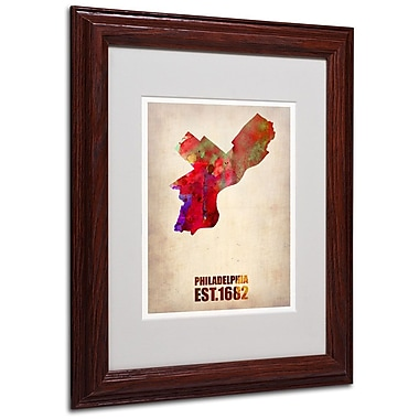 Trademark Fine Art 'Philadelphia Watercolor Map' 11
