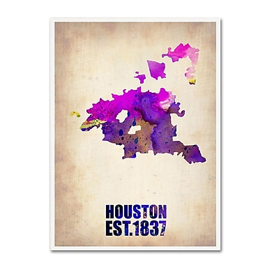 Trademark Fine Art 'Houston Watercolor Map' 24