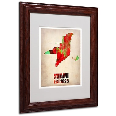 Trademark Fine Art 'Miami Watercolor Map' 11
