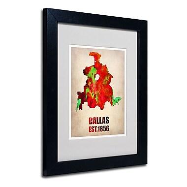 Trademark Fine Art 'Dallas Watercolor Map'