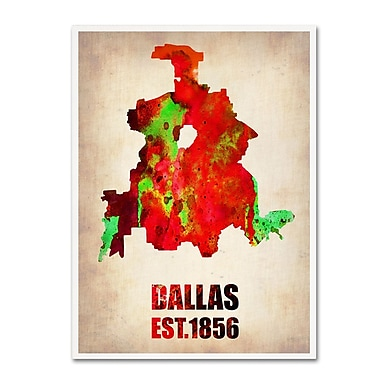 Trademark Fine Art 'Dallas Watercolor Map' 14