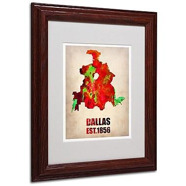 Trademark Fine Art 'Dallas Watercolor Map' 11