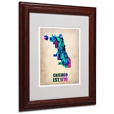 Trademark Fine Art 'Chicago Watercolor Map' 11